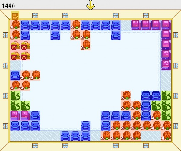 screenshot of Justin Hall's game Tidy Up
