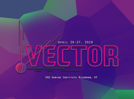 text that has the vector logo and text that reads April 26-27, 2019.